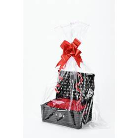 Create Your Own Wicker Gift Hamper Basket Kit, Black - Small