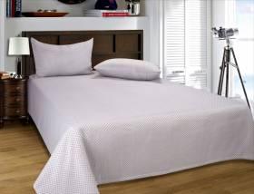 European Style Woven Matelasse Bedspread, 2 Pillow Shams -Beige & Cream
