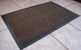 Heavy Duty Non-Slip Entrance Dirt Barrier Door Mat,40 x 60cm -Brown/Black