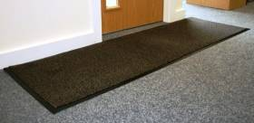 Heavy Duty Non-Slip Entrance Dirt Barrier Door Mat,60 x 180cm -Brown/Black