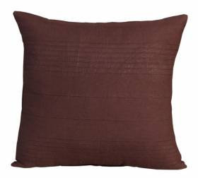 "Indian Classic Rib Cotton Cushion cover 18"" x 18"" Inches - Chocolate"