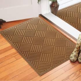 Large Polypropylene Indoors Outdoor Dust & Water Retaining Door Mat- Grey