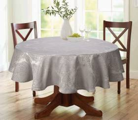 "Luxury Damask Round Table Cloth- Smoke  69"" ( 175cm )"