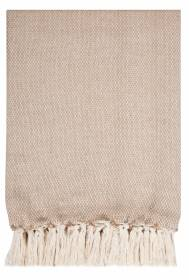 Micro Dots Weave Throw For Sofa ,Armchair or Single Bed, 125 X 150 cm-Beige