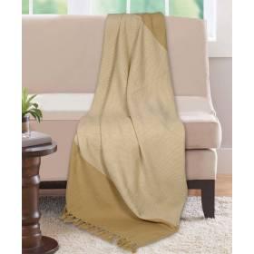 Premium Acyrilic Soft & Light Throw for Sofa Armchair, Single - Beige