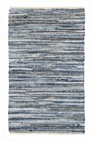 Recycled Cotton Handmade Denim Chindi Floor Rug, 70 x 140cm