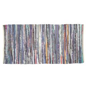 Recycled Cotton  Handmade Multi Coloured  Chindi Floor Rug -60 x 90Cm