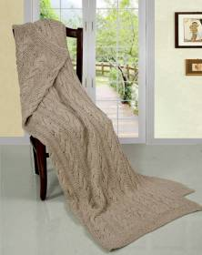 Super Chunky Hand Knitted Cotton Blanket Sofa Throw - 125 x 150cms Approx.
