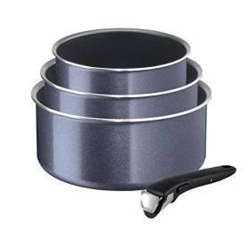 Tefal Ingenio l2319302 Elegance Set of 3 Aluminium Pans and 1 Handle -Grey