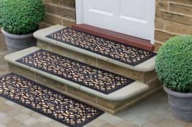 Victorian Wrought Iron Effect Non-Slip Panama Rubber Step Door Mat
