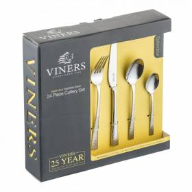 Viners Splendour Hammered effect 24 Pcs Stainless Steel Cutlery set