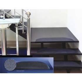 Weather Resistant Indoor & Outdoor Stair Rubber Mat - Black