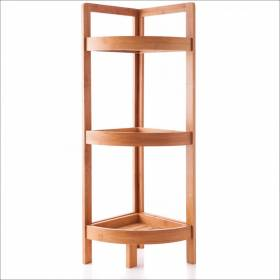 Woodluv 3 Tier Bamboo Free Standing Corner Storage Unit