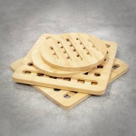 Pack of 4 Heat-Resistant & Eco Friendly Counter Protector Bamboo Trivet