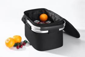 Woodluv Collapsible Insulated Picnic Cool Bag With Aluminium Handles, Black