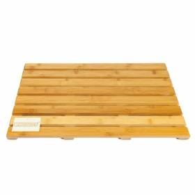 Woodluv Elegant Bamboo Rectangular Duckboard Bath Mat- Large