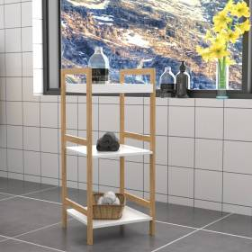Woodluv Exquisite Free Standing  3 Tier Eco- Friendly Bamboo Storage Rack