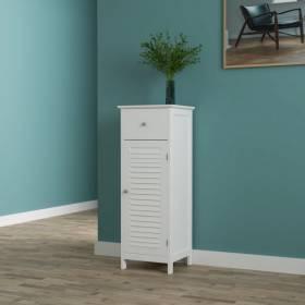 Woodluv Free Standing  MDF Bathroom Storag Cabinet Unit - White