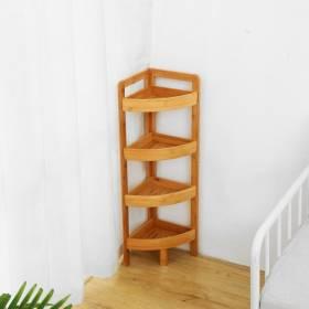 Woodluv Freestanding 4 Tier Corner Unit, Bathroom/Living Room