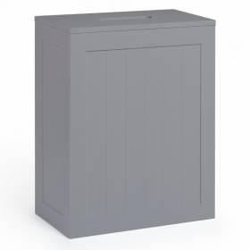 Grey Shaker Slimline Wooden Multi-purpose Bathroom Storage Unit