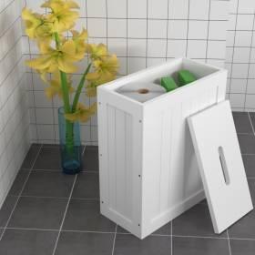 Woodluv Slimline MDF Multi Purpose Bathroom Storage Unit-White