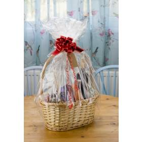 Woodluv Wicker Basket With Handle Includes Create Your own Gift Hamper Kit