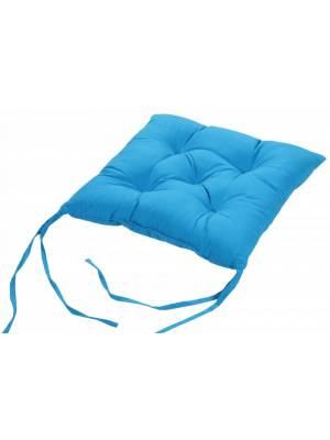 4 X  Quilted Seat Pad/Chair Cushion with Ties, 40 x 40 x 6cm