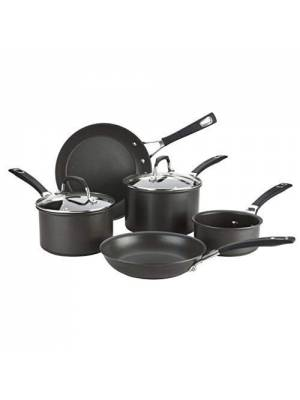 Anolon Synchrony 5 Piece All Hob Suitable Hard -Anodized Cookware Pan Set
