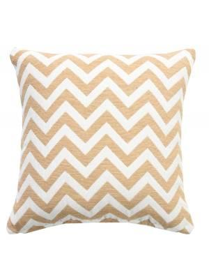 Chevron Sofa Cushion Cover - Beige / Natural (45 cm X 45 cm )