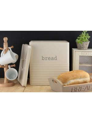 Ehc Elegant Square Shaped Storage Bread Bin - Cream