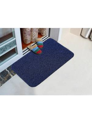Long wearing PVC Vinyl backed Entrance Door Mat - Navy Blue & Black