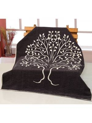Jacquard Infinity Tree Throw for sofa Bed throw, 127 x 152cm
