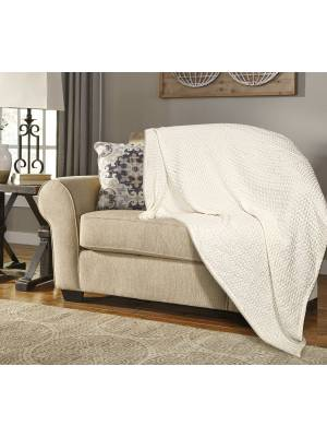 Luxuriously Soft Waffle 100% Cotton Blanket Throws for Sofa - Ivory