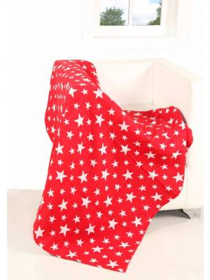 Ehc Reversible Star Pattern Sofa Bed Christmas Throw - 127 x 152cm