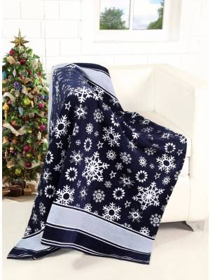 Festive Merry Xmas scroll & Xmas Tree Pattern Sofa Bed Throw-127x152cm