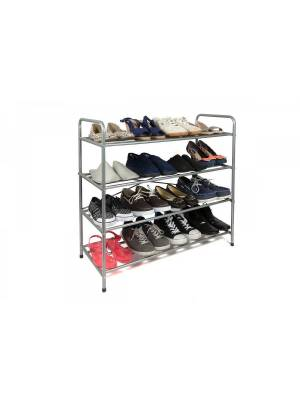 Hallway & Enterance Essential 4 Tier Metal Shoe Free Standing Unit