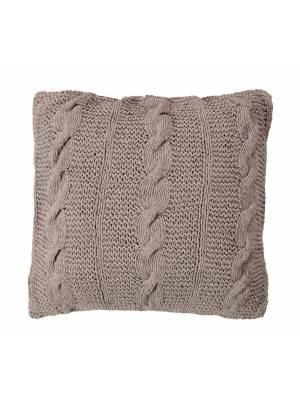 HandMade Chunky CableKnit Cotton Cushion Cover  - 40 x 40 cm, Grey