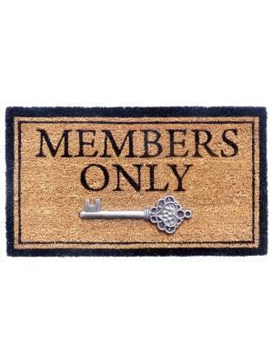 """Heavy Duty Indoor PVC Coir Entrance Door Mat """"Members Only"""""""