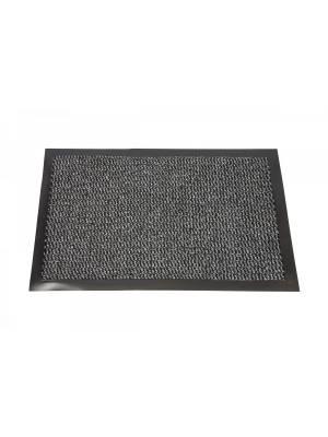 Heavy Duty Non-Slip Entrance Dirt Barrier Door Mat,40 x 60cm -Grey/Black