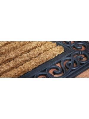 Heavy Duty Rectangular Rubber & Natural Coconut Coir Doormat