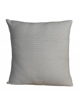 """Indian Classic Rib Cotton Cushion cover 16"""" x 16"""" Inches - Natural"""
