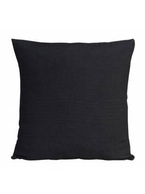 "Indian Classic Rib Cotton Cushion cover 18"" x 18"" Inches - Black"