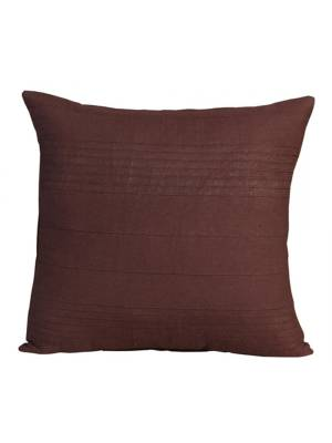 """Indian Classic Rib Cotton Cushion cover 18"""" x 18"""" Inches - Chocolate"""