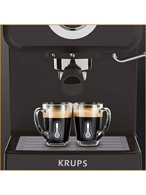 Krups XP320840 Series Opio Steam and Pump Coffee Machine, Black