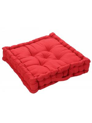 Medium Quilted Booster Cushions/ Chair Pad 40 x 40 x 10cm - Red