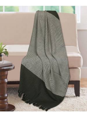 Premium Acyrilic Soft & Light Throw for Sofa Armchair, Single - Smoke