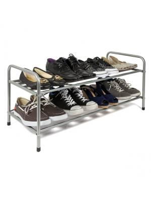 Premium Quality 2 Tier Metal Shoe Organising Unit For Hallway