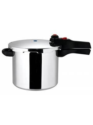 Prestige Quick and Easy Aluminium Pressure Cooker, Silver - 6 Litre