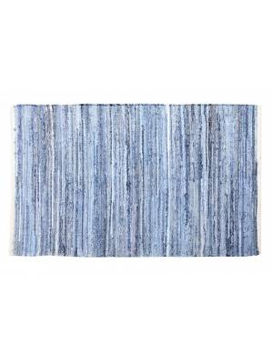 Recycled Cotton Handmade Denim Chindi Floor Rug, 60 x 90cm