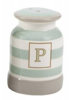 T&G Cream & Country Pepper Shaker Mint Stripe